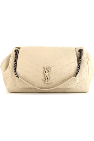 Yves Saint Laurent Women Shoulder Bags - Niki chevron-stitched shoulder bag - Neutrals