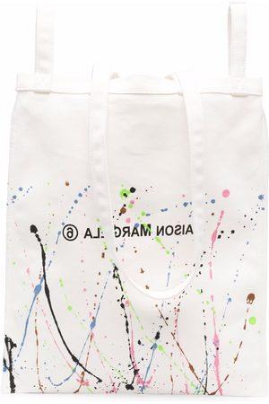 MM6 MAISON MARGIELA Paint-splatter logo-print tote bag