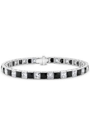 Pragnell Vintage Women Bracelets - Platinum Art Deco diamond and onyx line bracelet