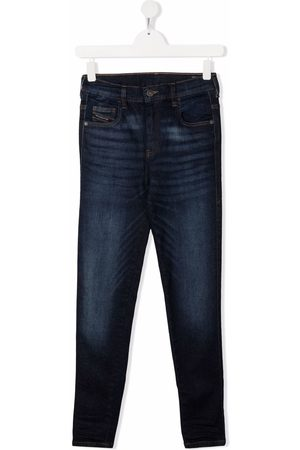 Diesel TEEN mid-rise straight-leg jeans