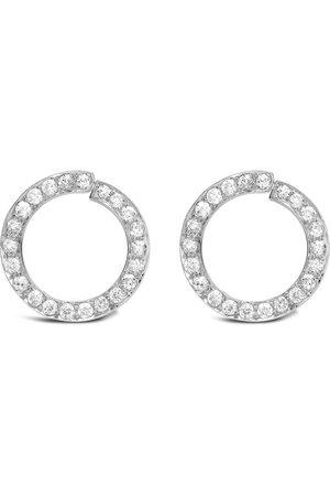 Pragnell Vintage Women Earrings - Platinum Art Deco diamond circular stud earring