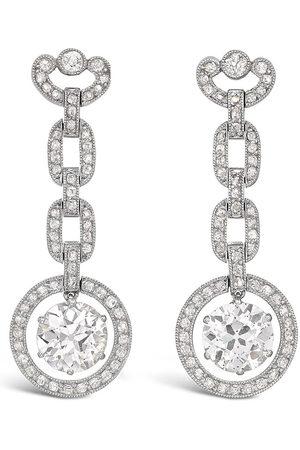Pragnell Vintage 18kt white gold Edwardian diamond earrings