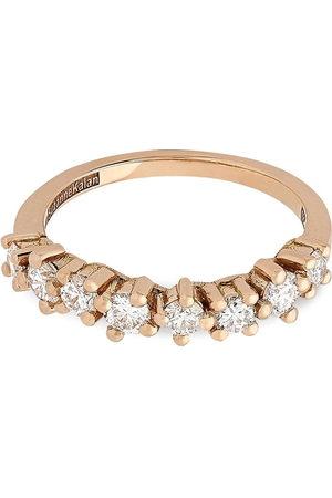 Suzanne Kalan 18kt rose gold Starburst diamond half band ring