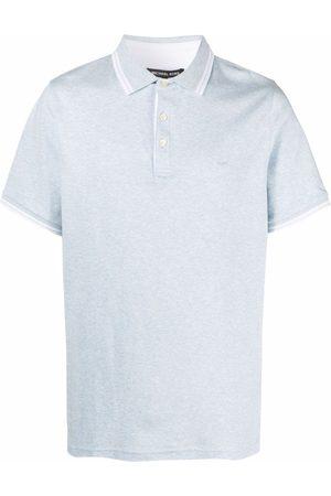 Michael Kors Embroidered-monogram polo shirt