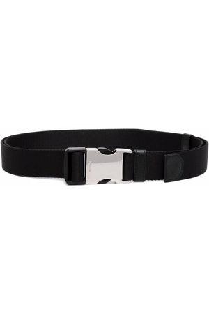 Prada Logo-engraved woven nylon tape belt