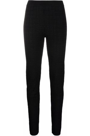 Givenchy Women Skinny Trousers - 4G-jacquard slim-fit trousers