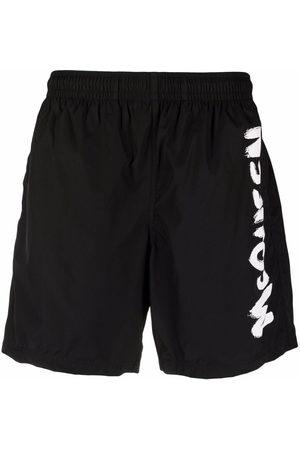 Alexander McQueen Men Swim Shorts - Logo-print swim shorts