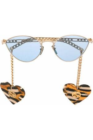 Gucci Heart-charm cat-eye sunglasses