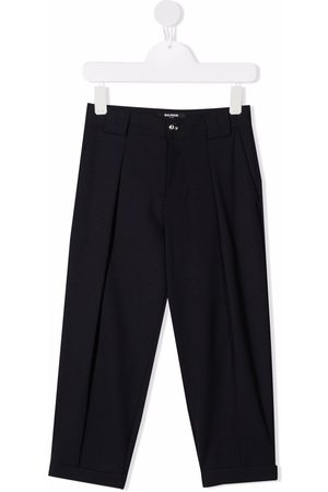 Balmain Wool-blend tapered trousers
