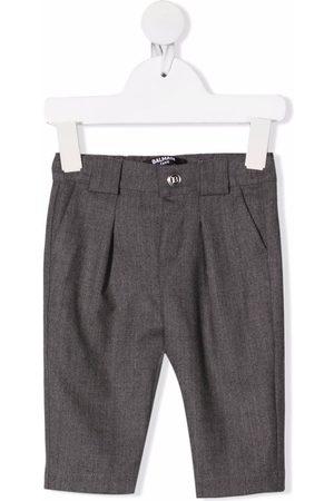 Balmain Virgin wool straight-leg trousers