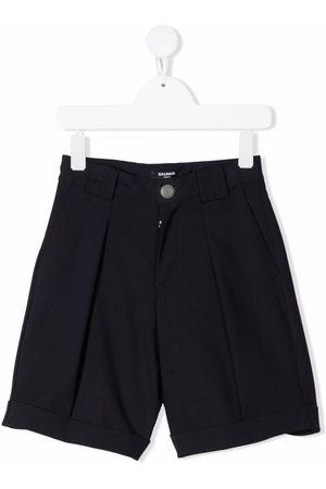 Balmain Boys Straight - Straight-leg tailored shorts