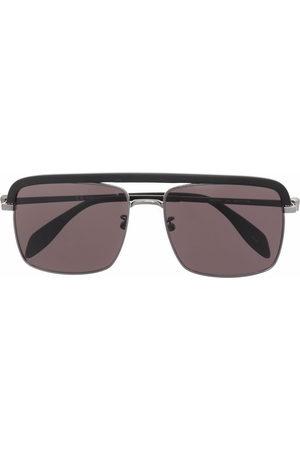 Alexander McQueen Men Sunglasses - Metal Skull square-frame sunglasses