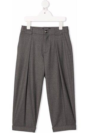 Balmain Boys Trousers - Wool-blend tapered trousers