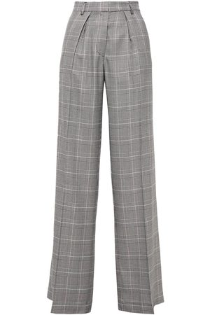 ATM Anthony Thomas Melillo Woman Prince Of Wales Checked Woven Wide-leg Pants Size 4