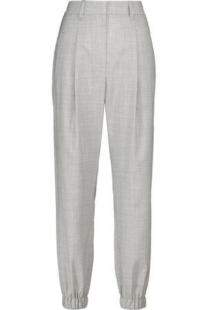 Brunello Cucinelli High-rise virgin wool pants