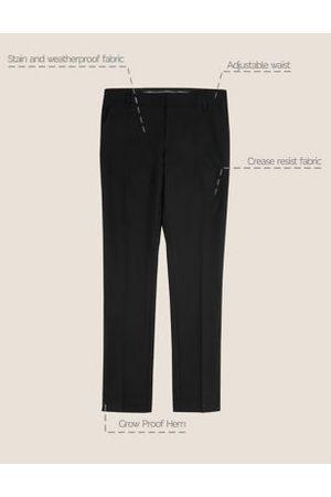 Marks & Spencer Boys Skinny Trousers - Boys Boys' Super Skinny Slim Fit School Trousers - 10-11