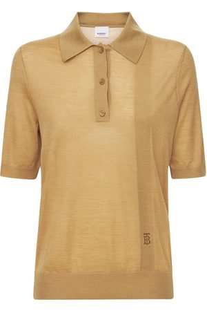 Burberry Madeline Logo Wool Blend Knit Polo