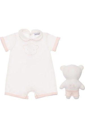 Emporio Armani Girls Jumpsuits - Cotton Jersey Romper & Toy