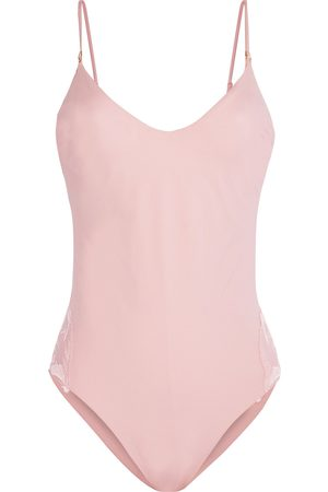La Perla Woman Anemone Stretch-broderie Anglaise Swimsuit Baby Size I B