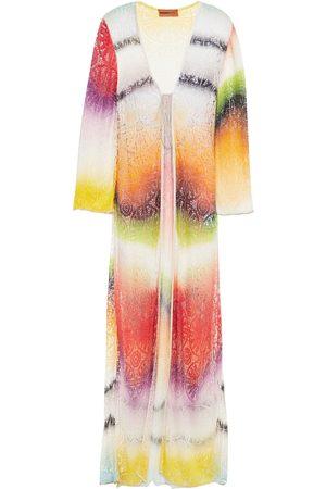Missoni Woman Metallic-trimmed Crochet-knit Coverup Size 40