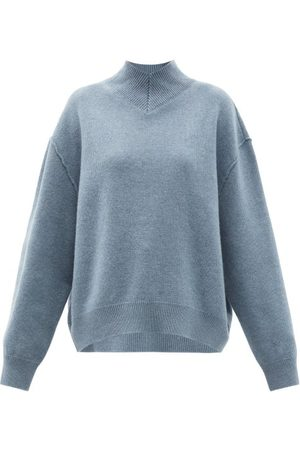 Raey Women Jumpers - Responsible-wool Displaced-sleeve V-neck Sweater - Womens