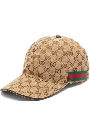 Gucci Web-stripe Gg-logo Baseball Cap - Mens