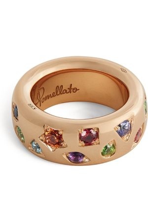 Pomellato Women Rings - Rose and Mixed Stone Iconica Ring