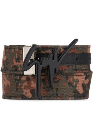 Giuseppe Zanotti Men Belts - Logo paint print belt