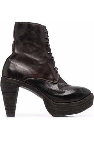 Guidi Women Lace-up Boots - Tapered-heel lace-up ankle boots