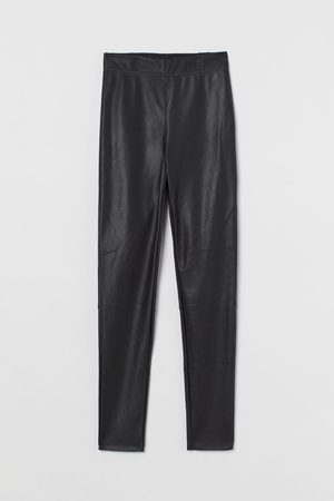 H&M Women Leather Trousers - Imitation leather leggings