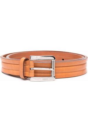 Gianfranco Ferré 2000s leather buckle belt - Neutrals
