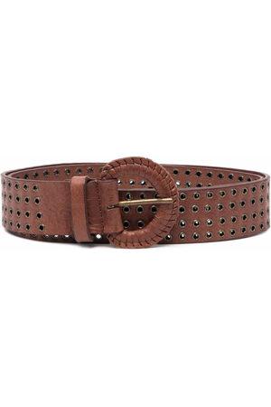 Gianfranco Ferré Pre-Owned 2000s eyelet-embellished buckle belt