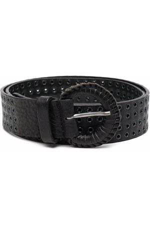 Gianfranco Ferré 2000s eyelet embellished leather belt