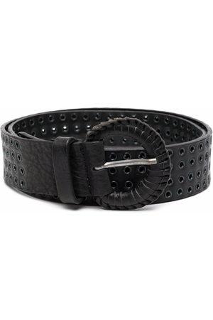Gianfranco Ferré Pre-Owned Belts - 2000s eyelet embellished leather belt