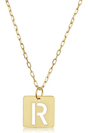 """SuperJeweler """"R"""" Initial Necklace in 14K , 16-18 Inches"""