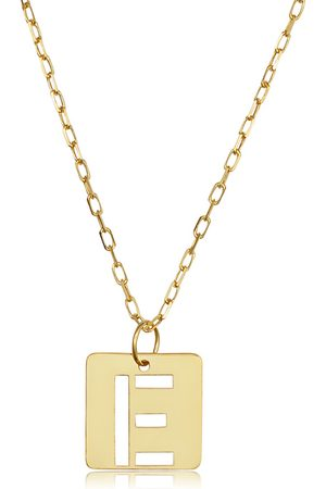 """SuperJeweler """"E"""" Initial Necklace in 14K , 16-18 Inches"""