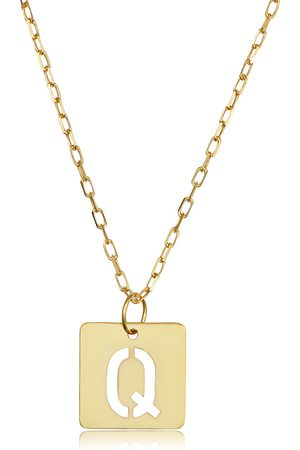 """SuperJeweler """"Q"""" Initial Necklace in 14K , 16-18 Inches"""