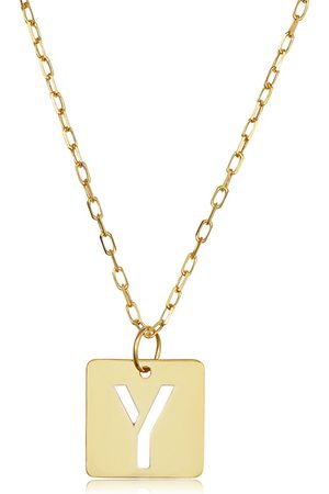"""SuperJeweler """"Y"""" Initial Necklace in 14K , 16-18 Inches"""