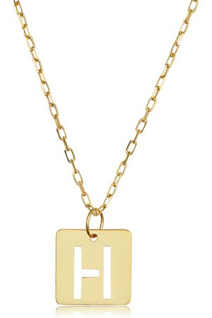 """SuperJeweler """"H"""" Initial Necklace in 14K , 16-18 Inches"""