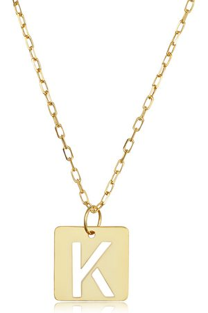 """SuperJeweler """"K"""" Initial Necklace in 14K , 16-18 Inches"""