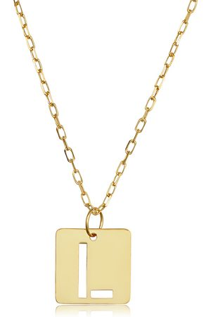 """SuperJeweler """"L"""" Initial Necklace in 14K , 16-18 Inches"""