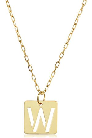 """SuperJeweler """"W"""" Initial Necklace in 14K , 16-18 Inches"""