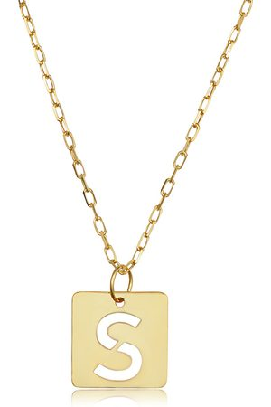 """SuperJeweler """"S"""" Initial Necklace in 14K , 16-18 Inches"""