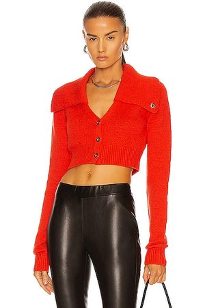 Helmut Lang Women Cardigans - Tucked Cropped Cardigan in Flare