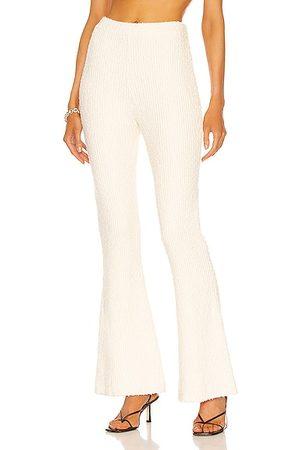 Helmut Lang Women Trousers - Rib Flare Pant in Muslin