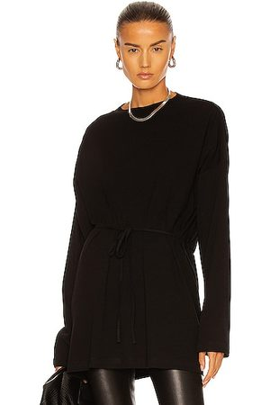ROSETTA GETTY Long Sleeve Apron Front Top in