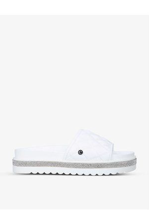 Carvela Jeo quilted faux-leather sliders