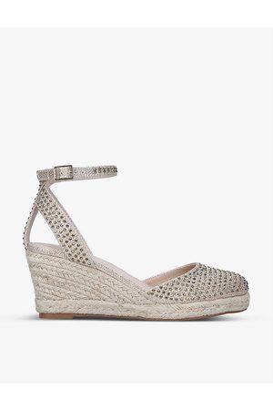 Carvela Sabrina Bling gemstone embellished woven sandals