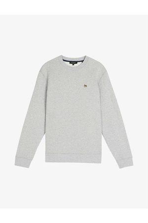Ted Baker Hatton flower-embroidered cotton-jersey sweatshirt