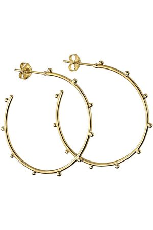 The Love Silver Collection Sterling Silver Gold Plated Statement Hoop Earrings